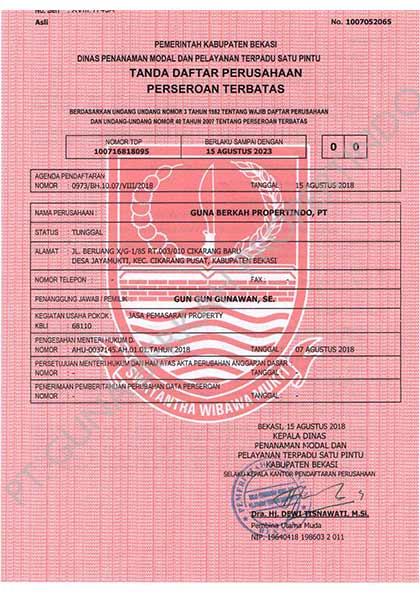PT-Guna-Berkah-Propertindo-Tanda-Daftar-Peruhaan-Asli